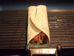 Grilled Tortilla Wrap - Cooking - Indian Curry Shack