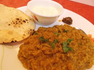 Masala Dal Khichdi with Papad, Curd & Pickle - Indian Curry Shack