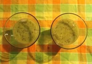 Virgin Kiwi Mojito in the making - Indioan Curry Shack