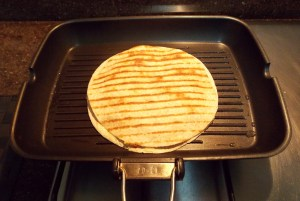 Quesadilla being cooked - 2nd side - ICS