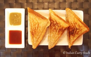Sandwich with Sauces - Indian Curry Shack