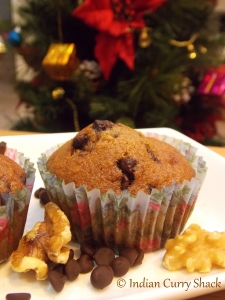 Walnut & Chocolate Chip Muffin - Indian Curry Shack