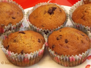 Walnut & Chocolate Chip Muffins - Indian Curry Shack