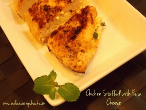 Chicken stuffed with Feta Cheese - Indian Curry Shack