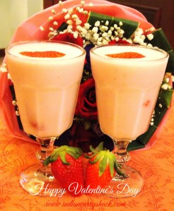 Strawberry Smoothie - Indian Curry Shack
