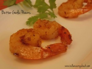 Butter Garlic Prawns - Indian Curry Shack