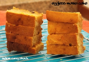 Eggless Mawa Cake Slices - Indian Curry Shack