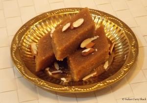 Sooji Ka Halwa - Sliced - Indian Curry Shack