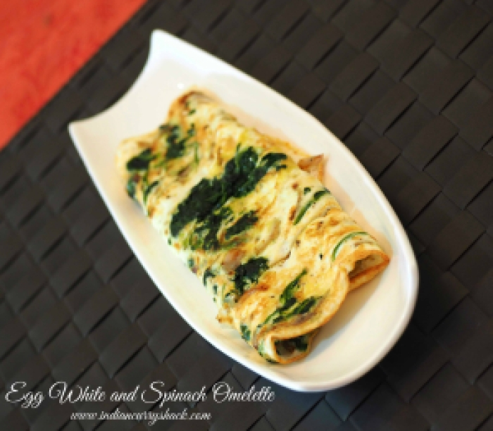 Egg White & Spinach Omelette - Indian Curry Shack