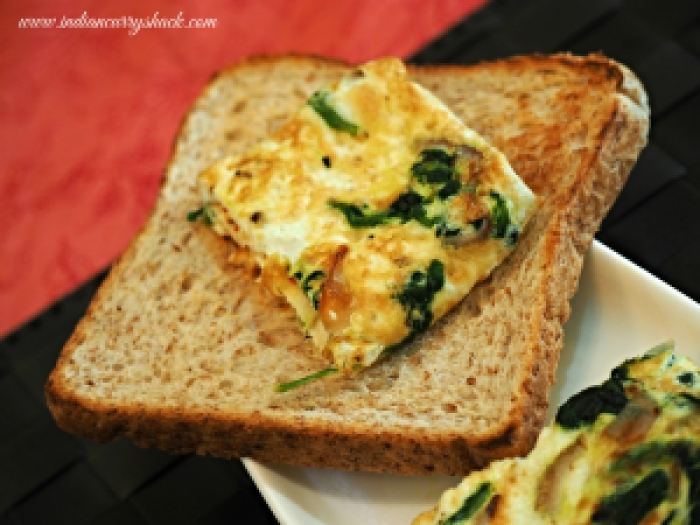 Egg White & Spinach Omelette with Toast - Indian Curry Shack