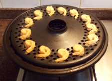 Tandoori Prawns being roasted - Indian Curry Shack