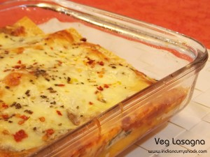 Veg Lasagna - Indian Curry Shack