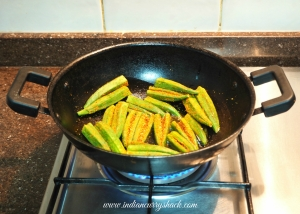 Bharwa Bhindi in the making - Indian Curry Shack