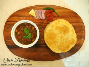 Chole Bhature Platter - Indian Curry Shack