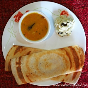 Dosa with Sambhar and Chutney - Indian Curry Shack