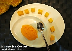 Mango Ice Cream-Indian Curry Shack