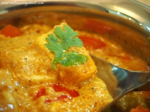 Malai Paneer - Close-up - Indian Curry Shack